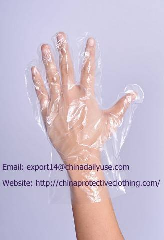 Disposable Poly PE Gloves Large, Food Grade, Food Preparation