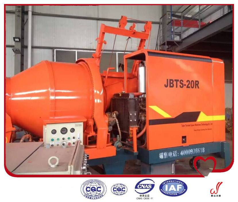 Factory Price ISO Standard HBT Series Small Mobile Concrete Conveying Pump For Sale