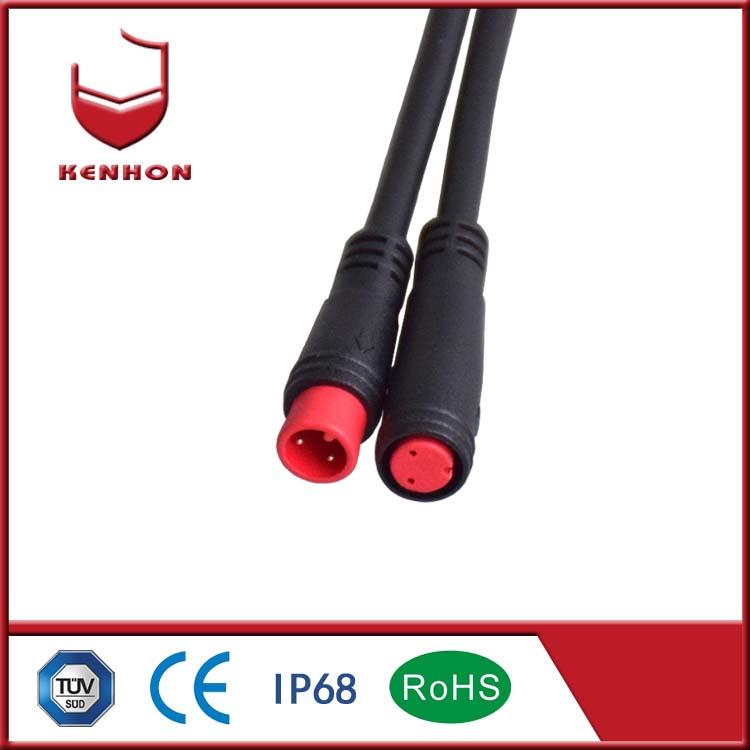 M8 3pin connectors IP67 low voltage waterproof connectors for Shared bicycle waterproof connector