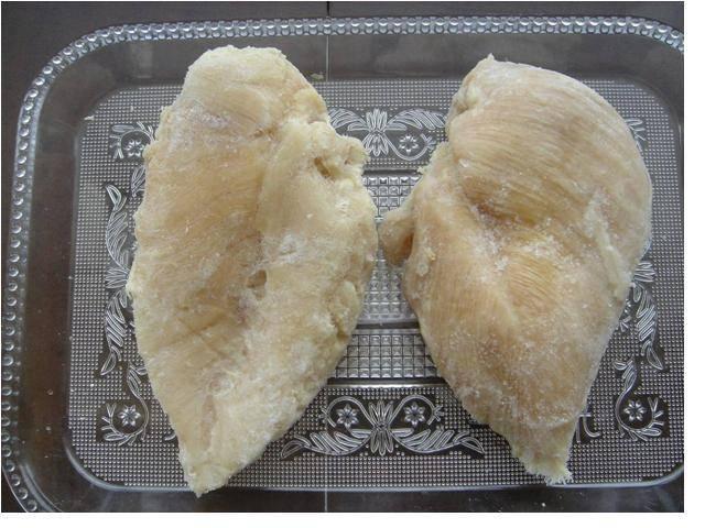Frozen steamed chicken breast fillet