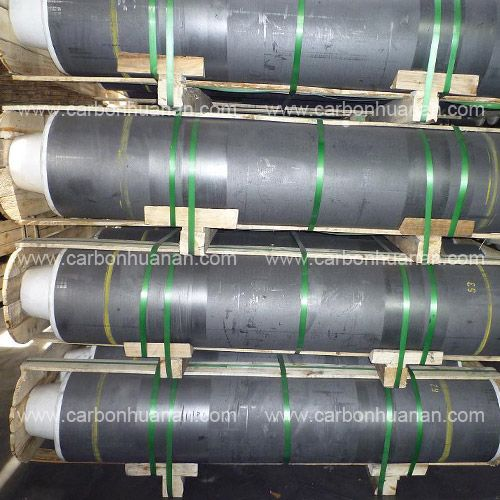 Good Electrical Conductivity HP Graphite Electrode With Nipple For Refining Furnace