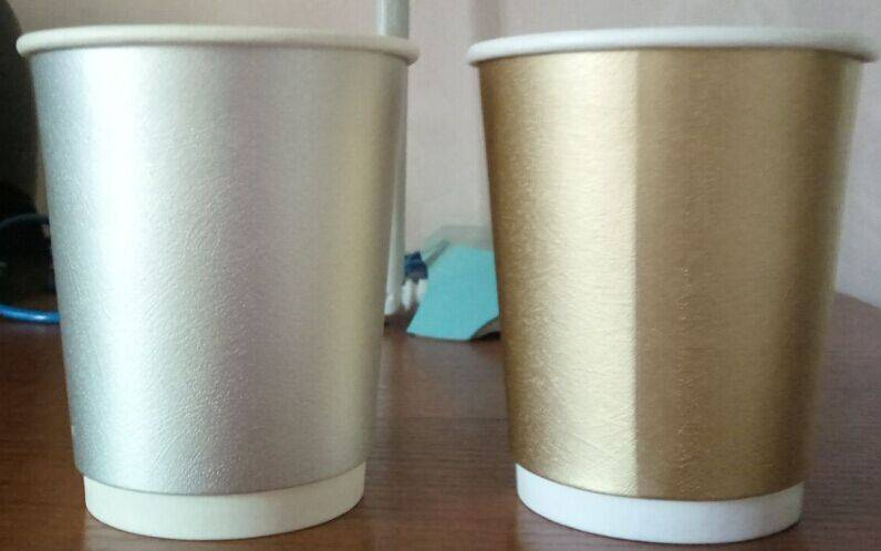 coffee shop Double wall disposable paper cup for coffee 3-24oz