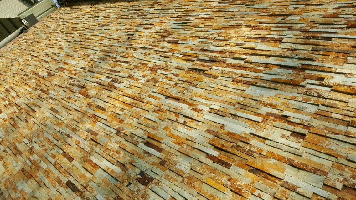 yellow rusty rough surface culture stone panel for wall cladding decoration