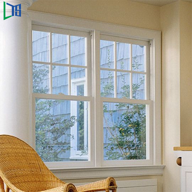 Waterproof Soundproof double hung window chinese supplier tempered glass