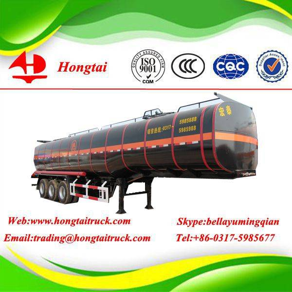 3 axle good quality fuel tanker semi trailer for sale
