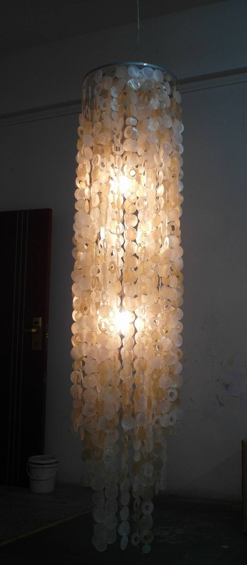 shell chandeliers/ Hanging Capiz Shell Pendant Chandelier/Capiz Shell Pendant Light Home Products/ l