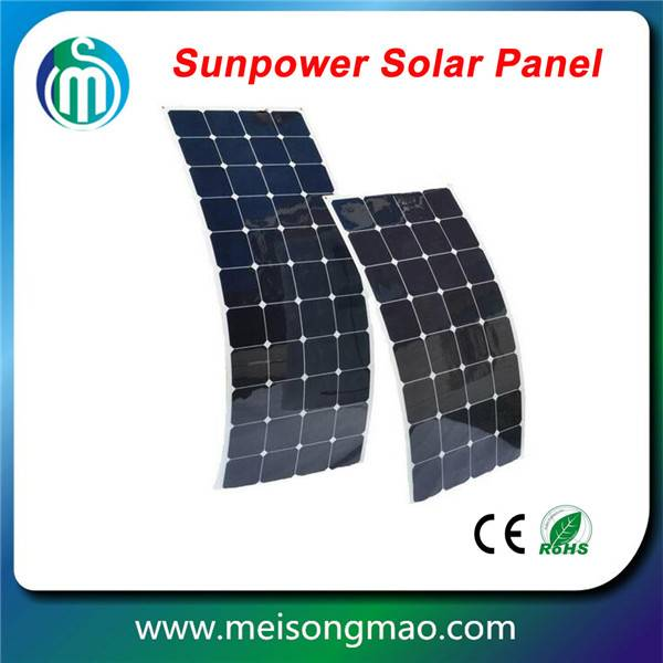 Highest efficiency Sunpower Solar panel 200W semi Flexible solar panel boat flexible solar panel