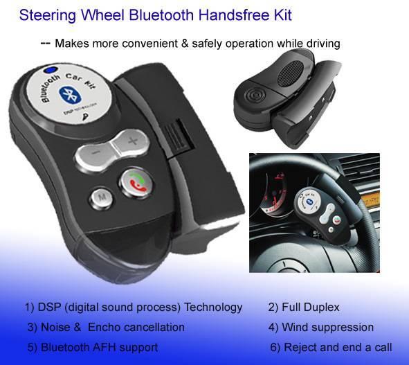 Car Bluetooth Handsfree Steering Wheel Bluetooth Kit (BT-003)