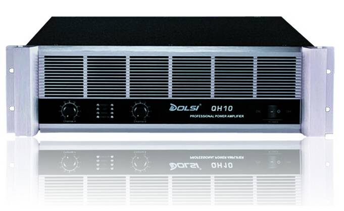 Double Channel 350W to 1300W at 8 ohms Professional Power Amplifier QH Series