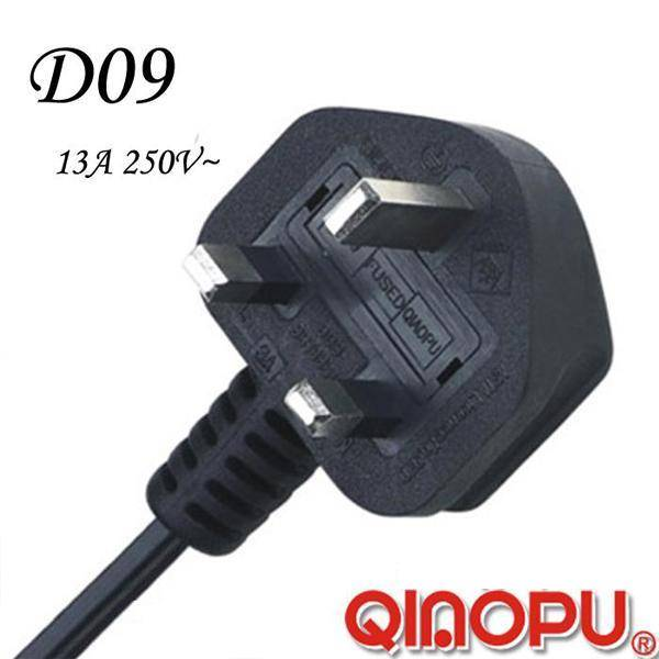 British UK 3-Pin Non-Rewirable Fused Plug (D09)