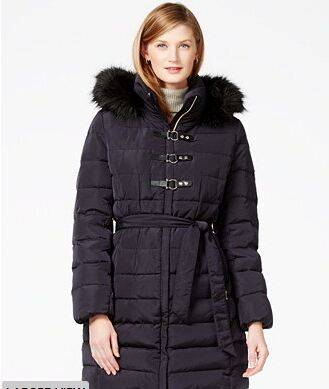 Buckled Puffer Coat
