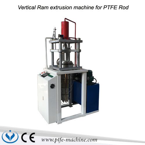 Vertical ram extruder machine for PTFE Rod