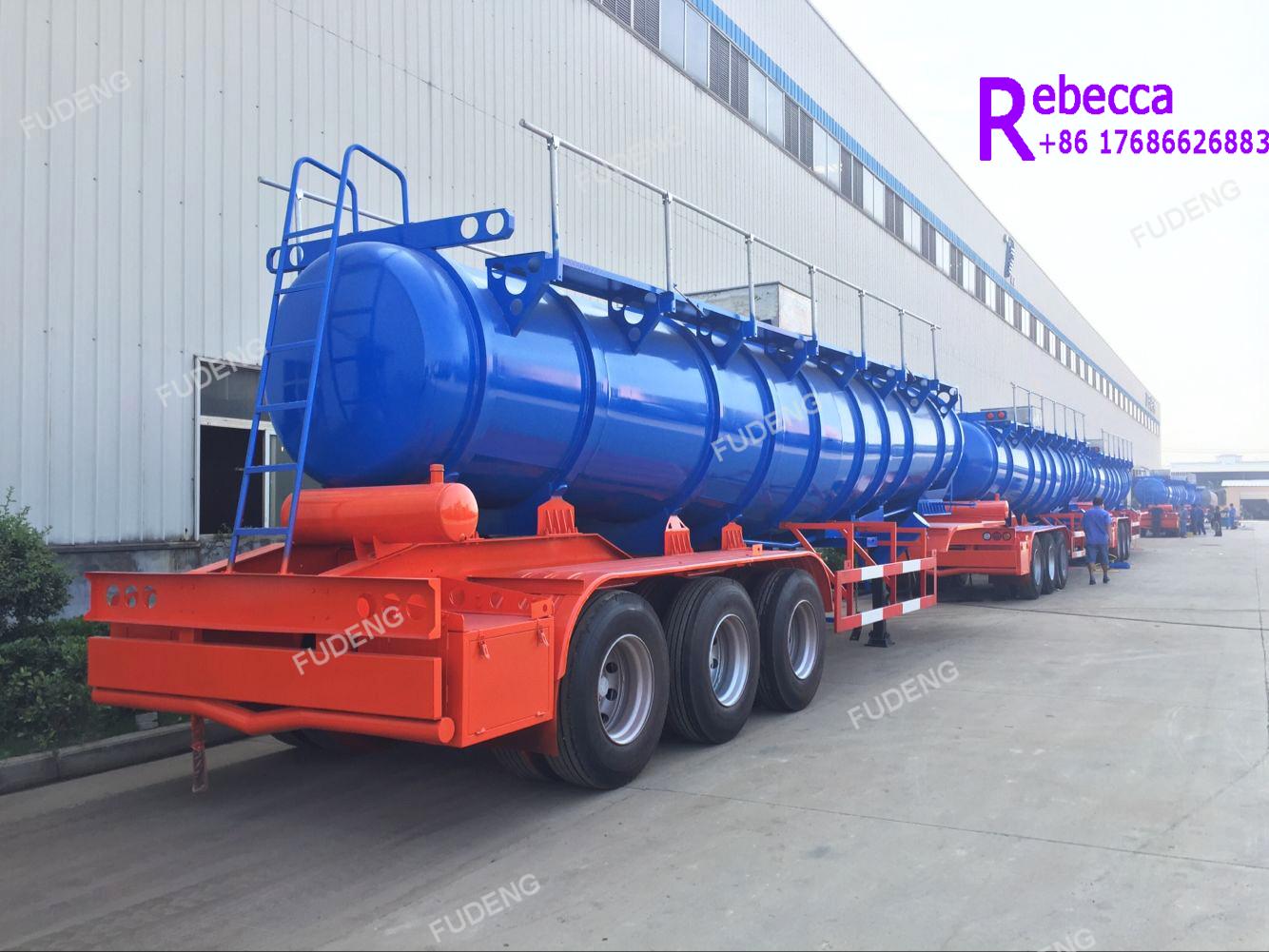 Used transport sulfuric acid tanker trailers sulphuric acid chemical liquid tanker trailer