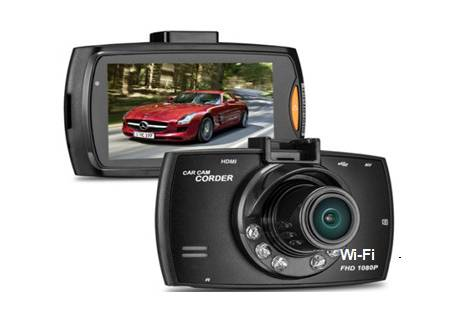 WiFi Dashboard 2.7-inch Display MOV Video 170 Degree Angle Lens 32GB SD Card Night Vision G-Sensor