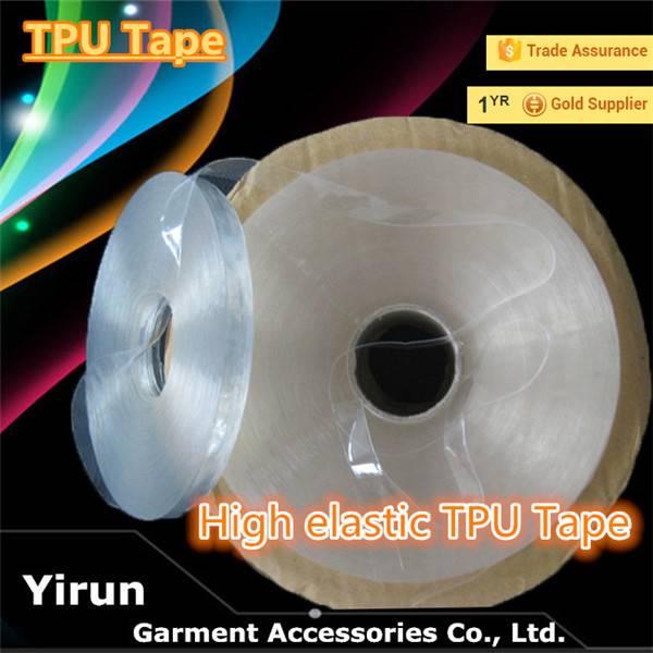 TPU tape transparent bra strap light blue waterproof TPU tape garment accessories