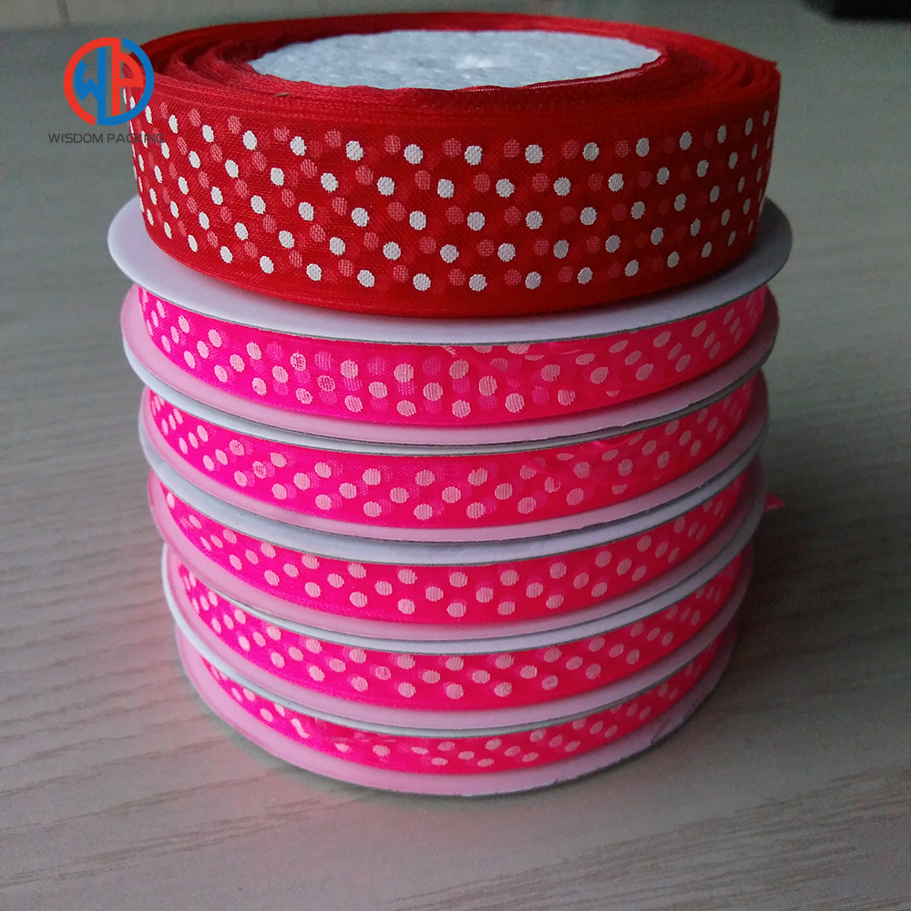 Wholesale100% polyester printed organza ribbon