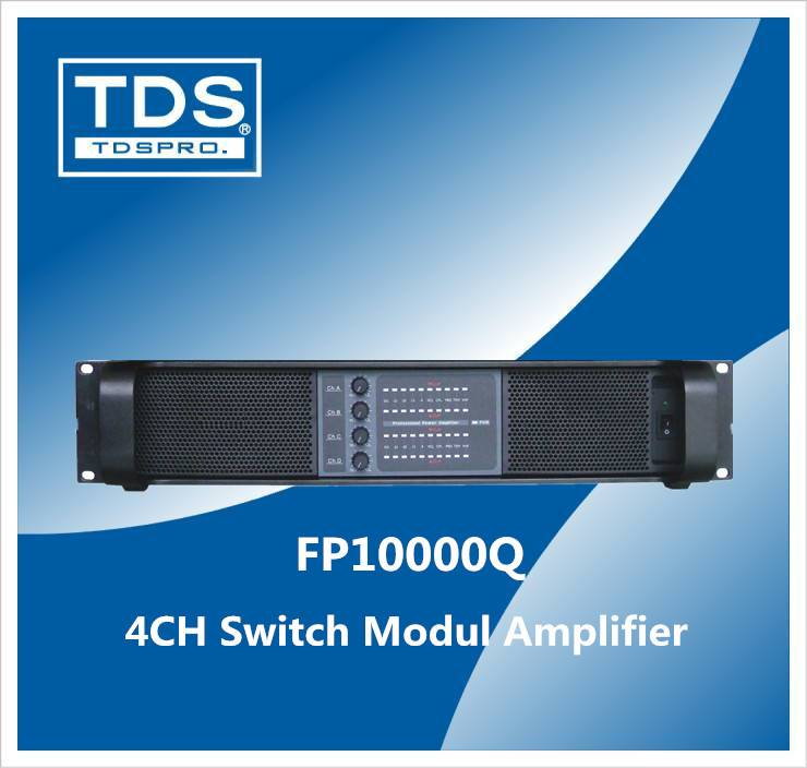 4 CH Line Array Audio Amplifier (FP10000Q) with 1300W