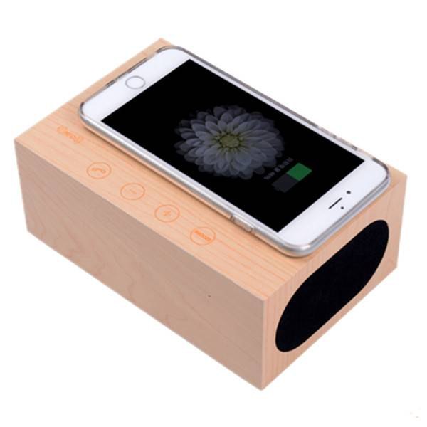 Alarm Clock Business Gift with Bluetooth Speaker and Wireless QI Charger