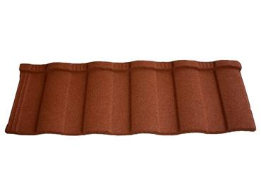 Metal roof tiles with stone coated