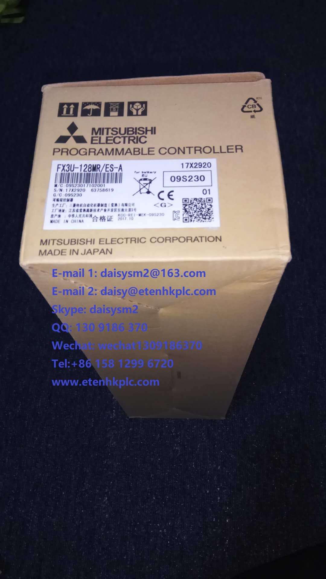 Mitsubishi PLC FX3U-128M,FX3U-16MR/ES-A sensor,touch screen,inverter,contactor