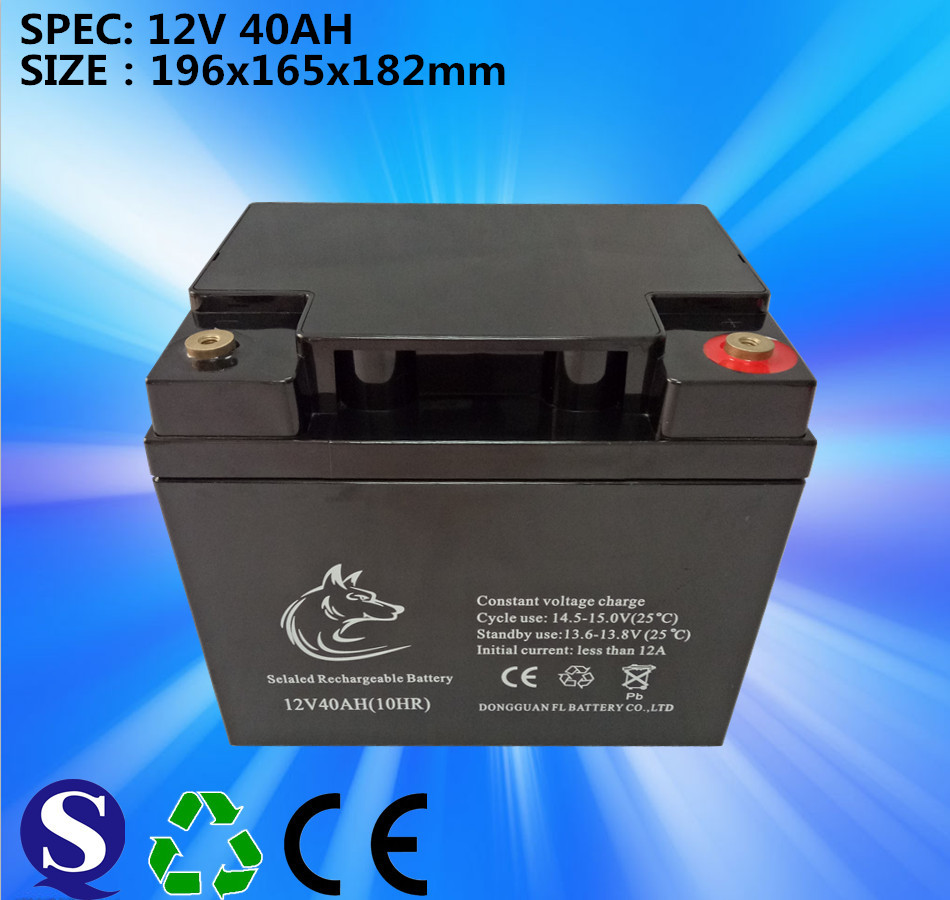 Deep Cycle 12v40ah VRLA Rrchargeable Maintenance Free Lead Acid Battery