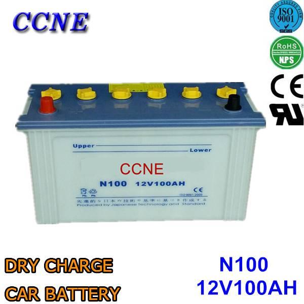 N100 95E41R 70027 hybrid alkaline korean dry charge 12v 100ah car battery