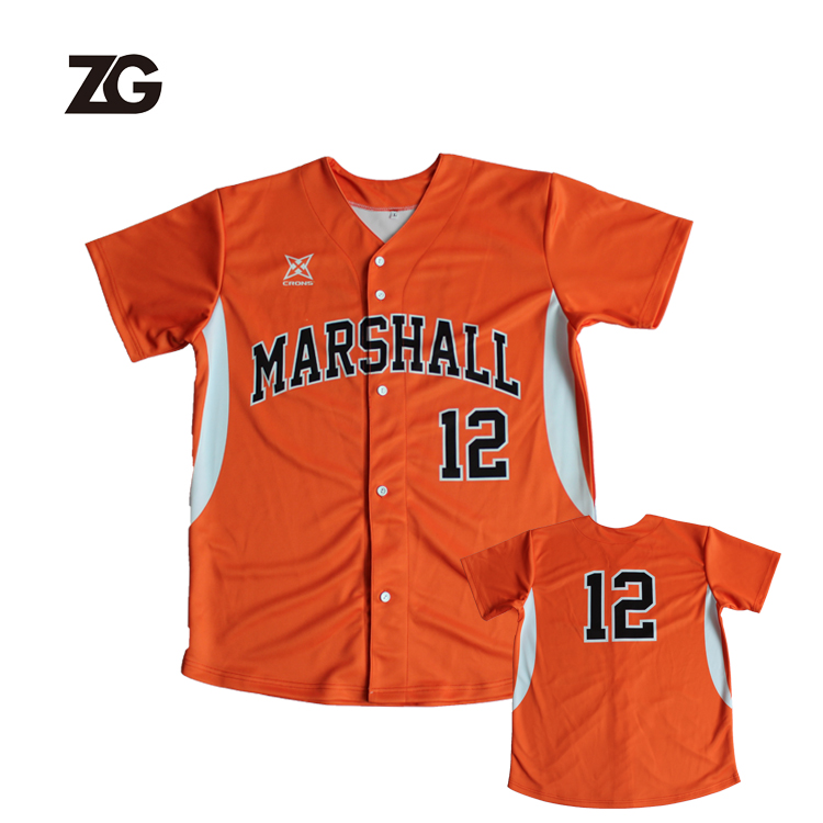 Custom High Quality Sublimated Baseball Uniform Baseball Jersey For Team Wear