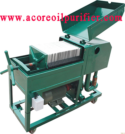 Plate Frame Press Oil Filtration Machine