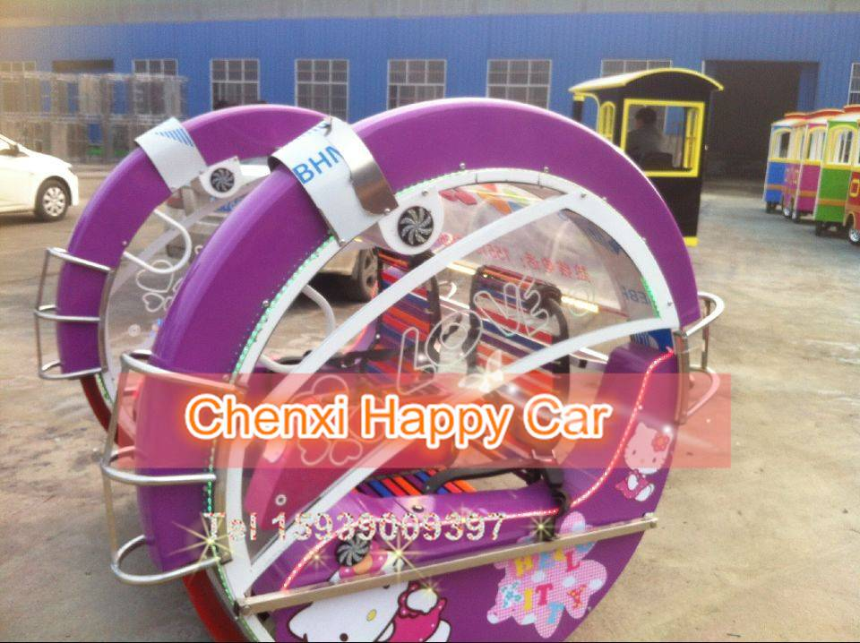 new 360degree rotating entertainment car for amusement park