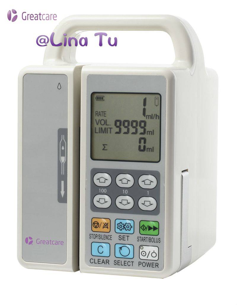 CE approved Dual channel infusion pump/injection pump/feed pump/Microinfusion Syringe Pump