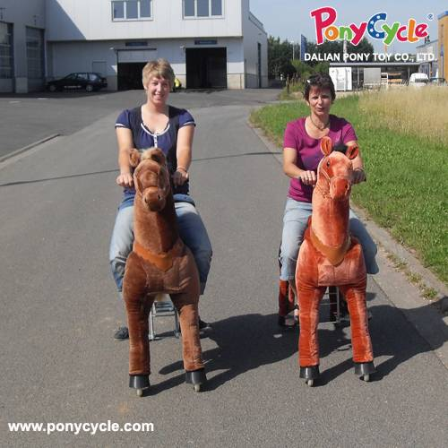 Riding Large Horse Plush Toy For Kids