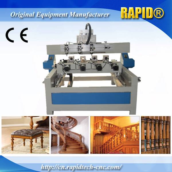 China 1515 Multi-Spindle Wood Stair Railing Making CNC Router Machine