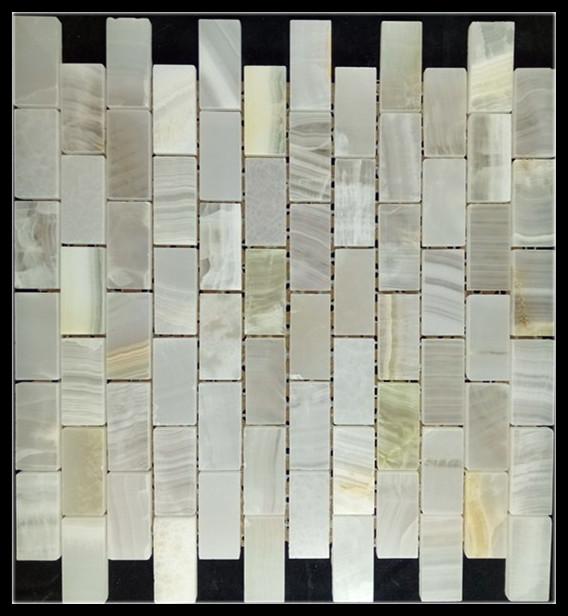 Jade stone mosaic