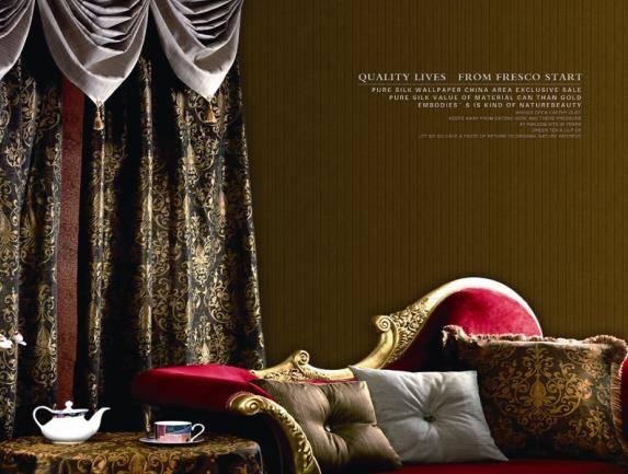 Modern style silk  wallpaper