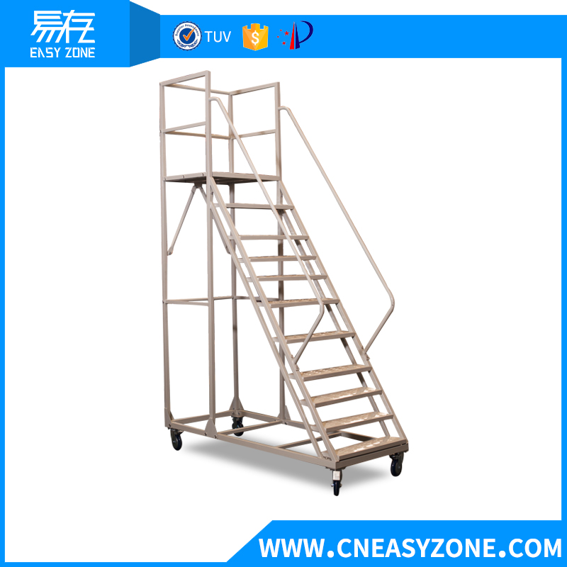 Easyzone 2.5m steel warehouse step ladder