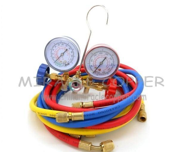 Refrigeration Valve Manifold gauge set for R134A good quality