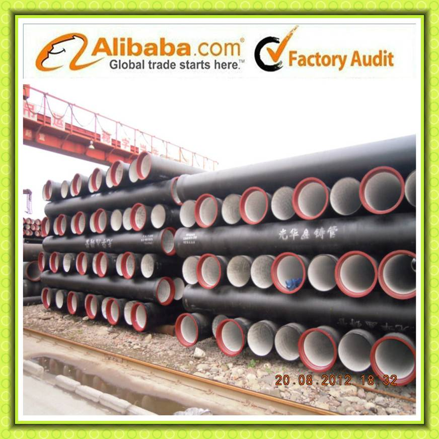 Tianjin Ductile iron pipes & fittings comply with ISO 2531/BS EN 545/598