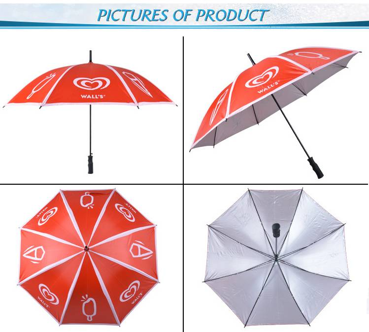 All big size fancy style straight umbrellas for promotion