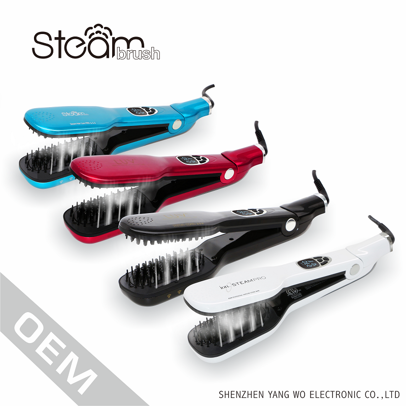 Beauty salon equipment fast professional steampod hair straightener with ceramic coating