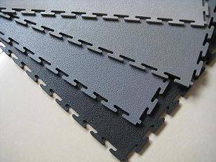 Plastic Interlocking floor tile