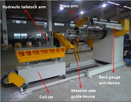 Hot sale hydraulic metal uncoiler machine save manpower with best price
