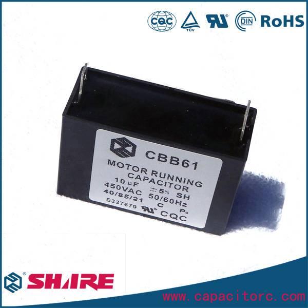 Motor run AC Film Ventilador Generator Polypropylene CBB61 Capacitor