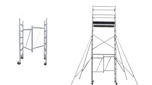 H Type Single Width Aluminum Tower Scaffolding