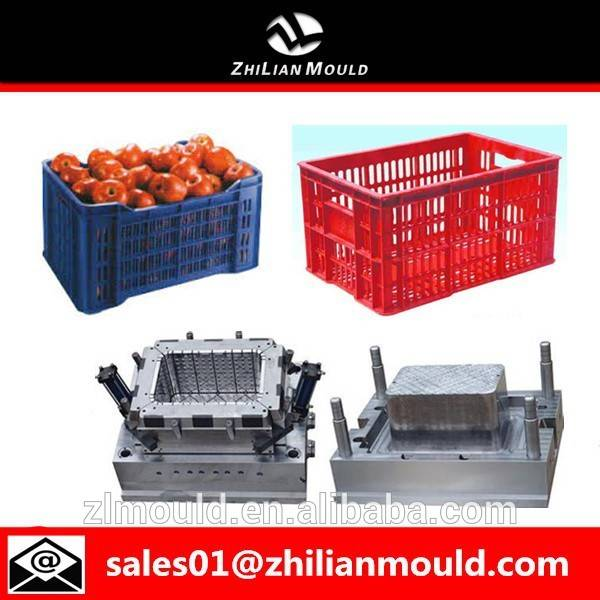 taizhou high quality plastic vegetable crate injection mould supplier