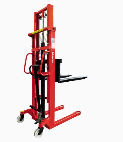 1 ton 1.6m Hydraulic Pallet Manual Hand Stacker Forklift Price