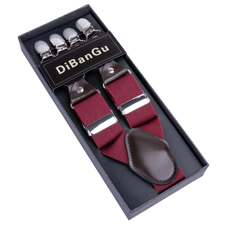 Business lattice suspenders Men's Fashion Braces Male Vintage Casual Adjustable 6 Clip Strap