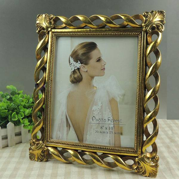romantic flower resin photo frame
