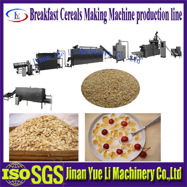 Breakfast cereals/corn flakes production/food machine