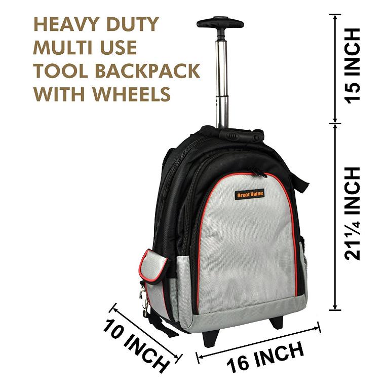 tool backpack,tool bag,heavy duty trolley tool backpack,tool backpack with wheels