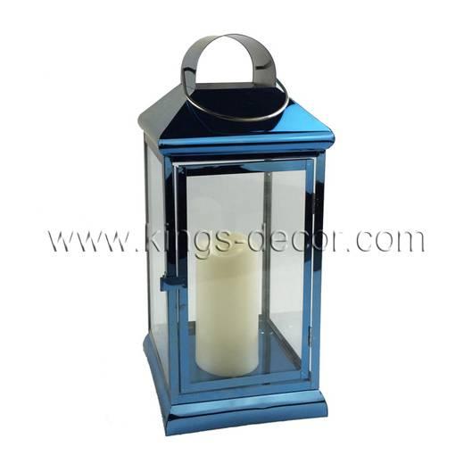 Contemporary sappine stainless steel lantern midium size